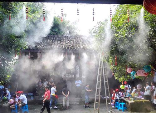 磁器口古镇钟家院子景观造雾系统