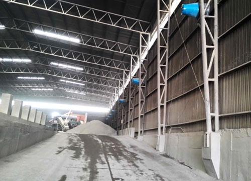 三圣实业混泥土搅拌站砂石材料库喷雾降尘系统