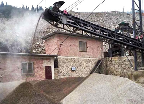 合川三汇砂石材料厂矿山喷雾降尘