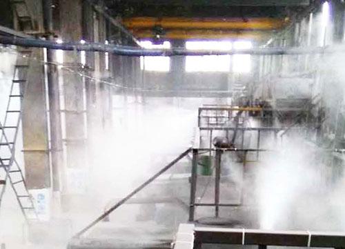 海尔工业园车间喷雾降温除尘系统